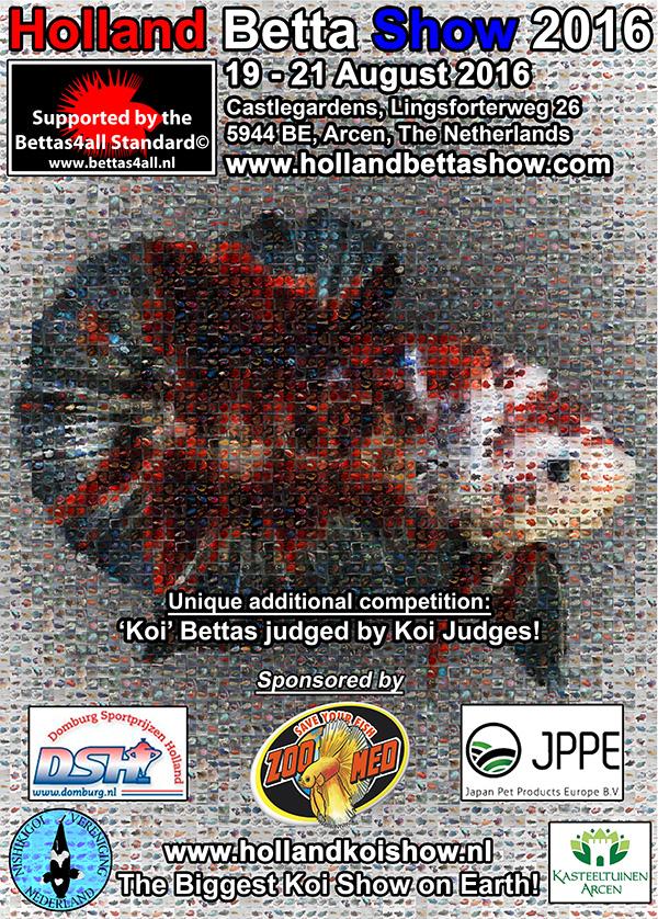 Bettas4all presents the Holland Betta Show 19-21 August 2016 PosterHBS2016
